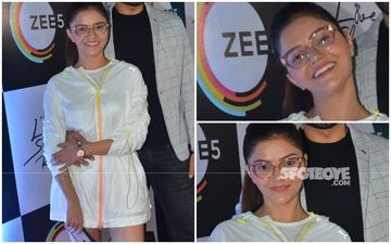 Fashion Culprit Of The Day: Rubina Dilaik, Ditching Pants For Hoodie Dresses Is Cool But In This Case, I Beg To Differ!