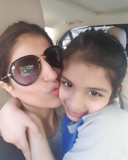 ruby with daughter jiyana