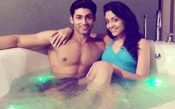 Balika Vadhu Actor Ruslaan Mumtaz Gets COSY IN A BATHTUB with Nirali Mehta