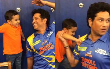 Irfan Pathan's Son Tries To Knock Out Sachin Tendulkar With His Boxing Skills; Latter's Response Is Simply Adorable
