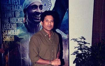 क्रिकेटर सचिन तेंदुलकर ने देखी हॉकी पर आधारित बायोपिक 'सूरमा'