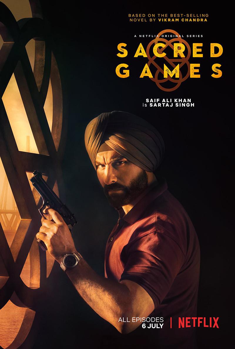 sacred games poster featuring saif ali khan