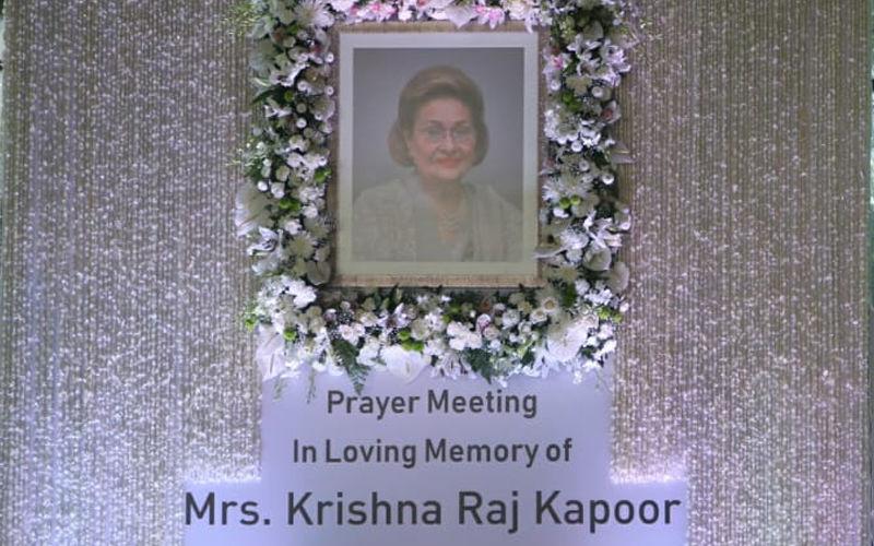 Krishna Raj Kapoor Prayer Meet LIVE Updates: Bollywood Celebs Pay Tribute To Raj Kapoor's Wife
