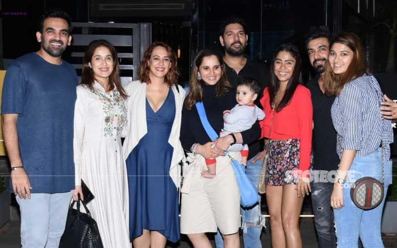 Yuvraj Singh-Hazel Keech, Zaheer Khan-Sagarika Ghatge And Sania Mirza Dine-Out At BKC - Pictures Galore!