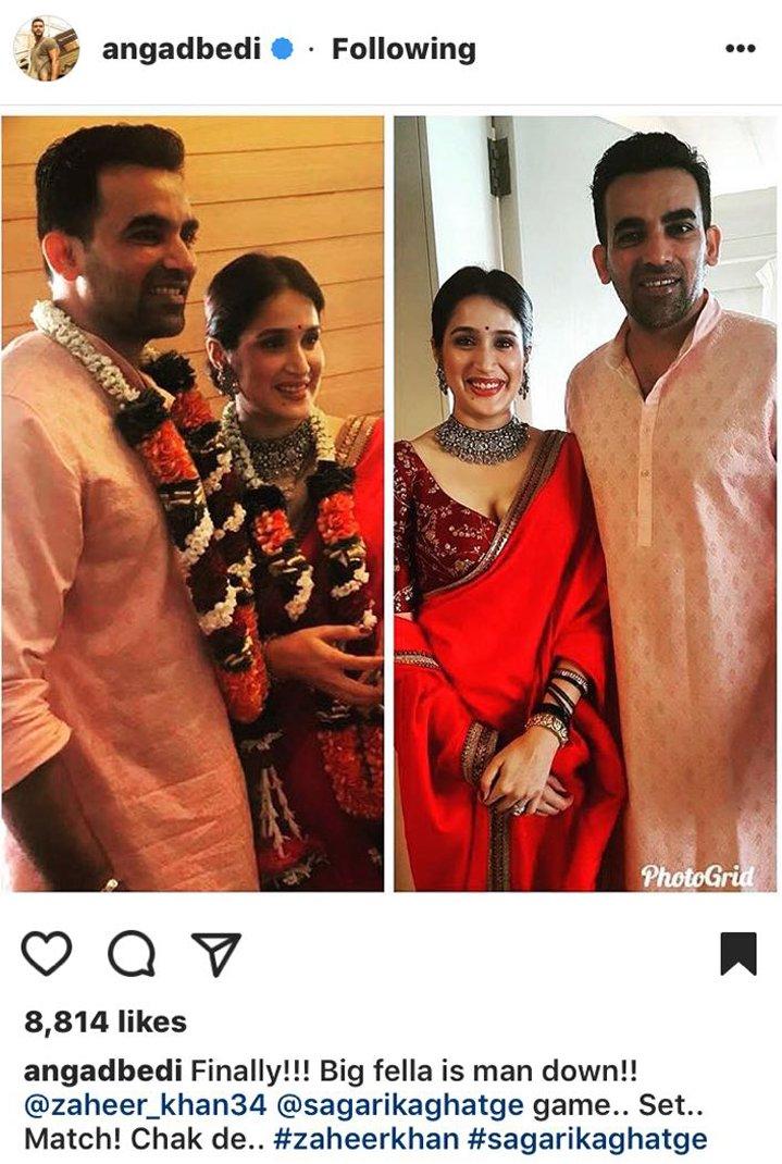 sagarika ghatge with zaheer khan