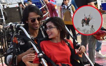 Yeh Rishtey Hain Pyaar Ke Actors Shaheer Sheikh And Rhea Sharma Display Their Adventurous Side Through Paragliding