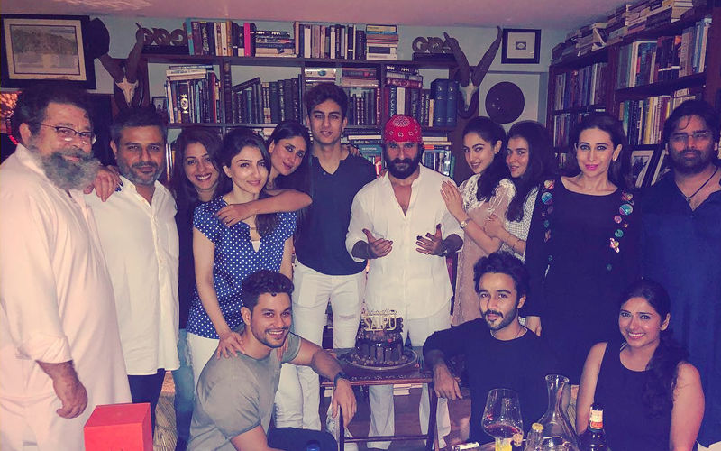 Saif Ali Khan Birthday: Kareena-Karisma Kapoor, Sara-Soha Ali Khan Celebrate Midnight Bash