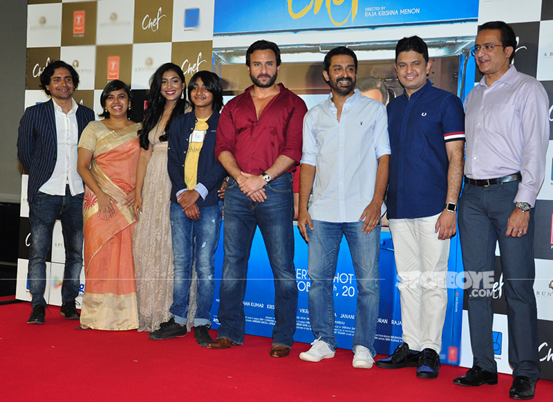 saif ali khan and cast at chef first look launch
