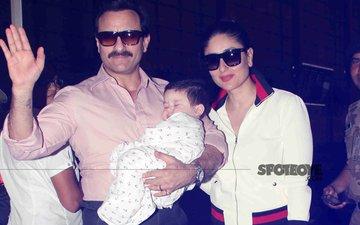 Saif Ali Khan, Kareena Kapoor & Taimur's Picture Perfect Moment Before Flying To Switzerland