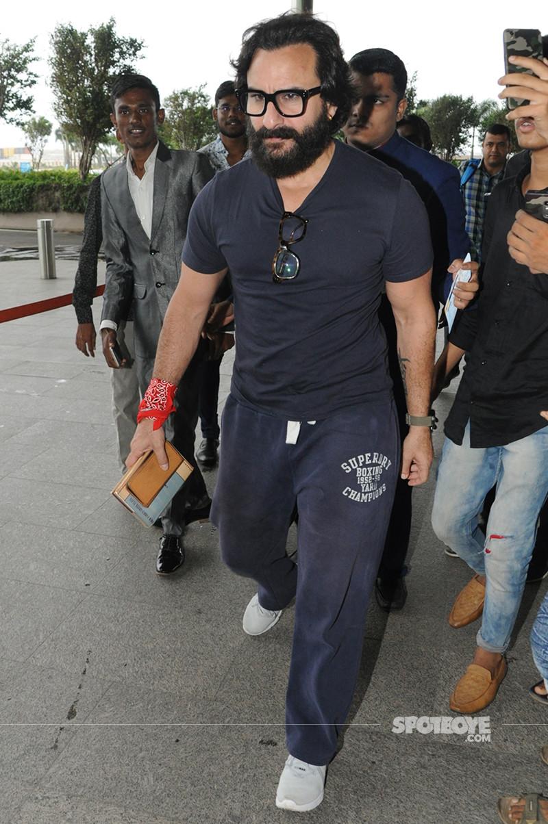 saif ali khan snapped at the airport