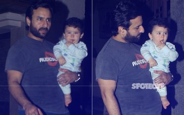 Taimur Looks Cute As A Button, Attends Aunt Soha Ali Khan's Birthday Bash
