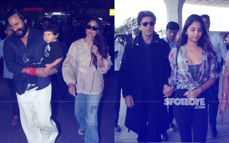 Taimur Returns To The Bay With Saif Ali Khan & Kareena Kapoor; Shah Rukh Khan-Suhana Head To London