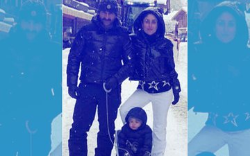 PIC: Taimur Ali Khan Enjoys His First Snow With Kareena Kapoor & Saif Ali Khan In Switzerland