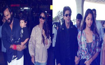 मालदीव में छुट्टियां बिताकर शहर लौटे सैफ और करीना, बेटी सुहाना संग एअरपोर्ट पर स्पॉट हुए शाहरुख
