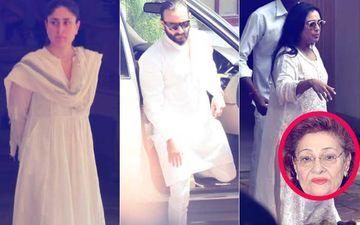 Kareena Kapoor, Saif Ali Khan, Rani Mukerji Arrive At Krishna Raj Kapoor's Bungalow