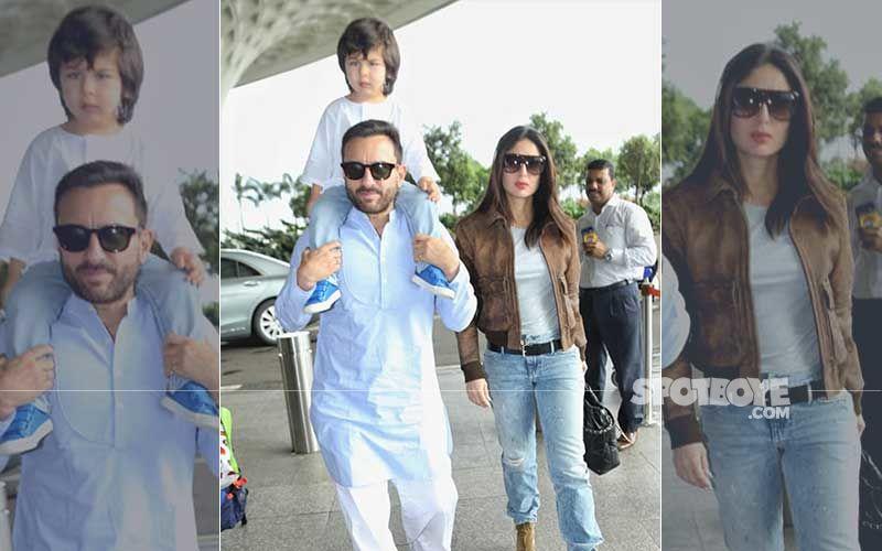 Taimur Ali Khan, Kareena Kapoor Khan And Saif Ali Khan Fly Out To Pataudi To Celebrate Bebo's Birthday
