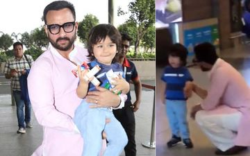 Saif Ali Khan Consoles A Crying Taimur With All The Patience; Daddies Are You Taking Notes? – Watch Video