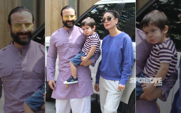 We Can't Help But Notice Taimur's Pout In These Pictures A la Mommy Kareena Style