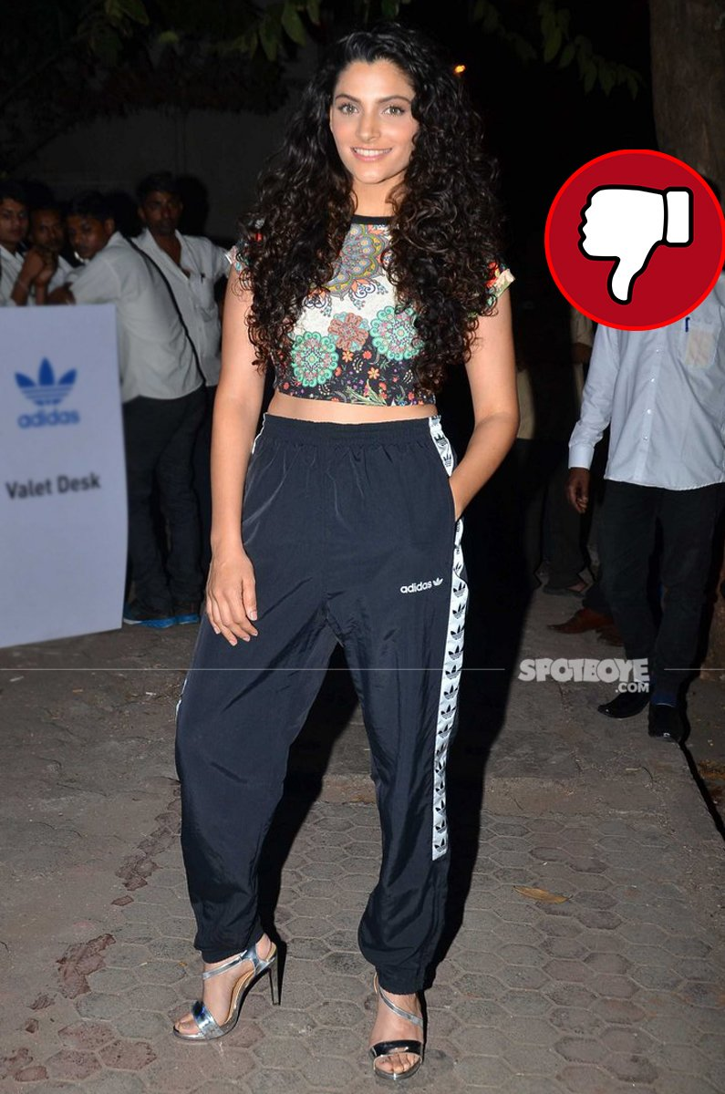 saiyami kher at adidas event