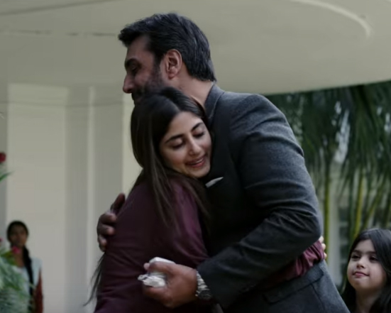 sajal ali and adnan siddiqui enacting a scene