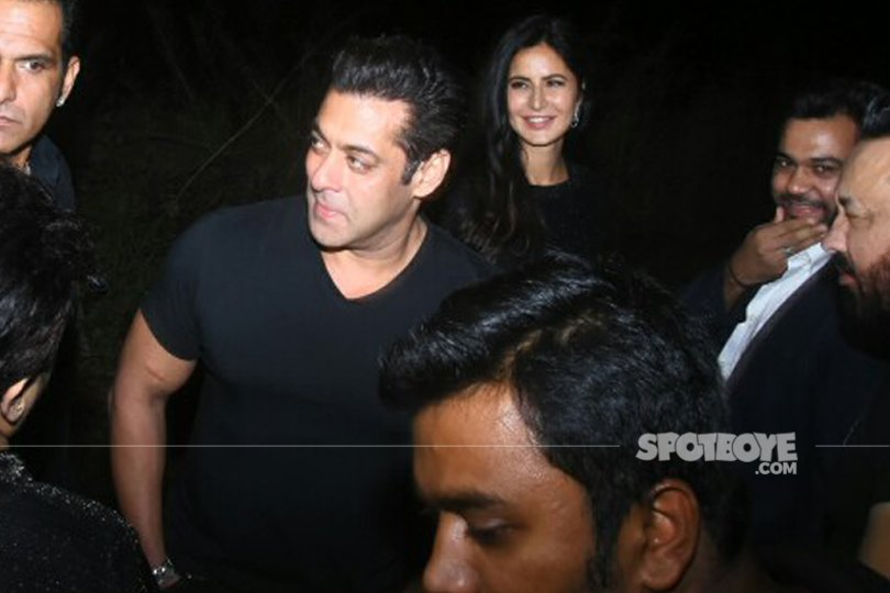 salman khan and katrina kaif interacting with media