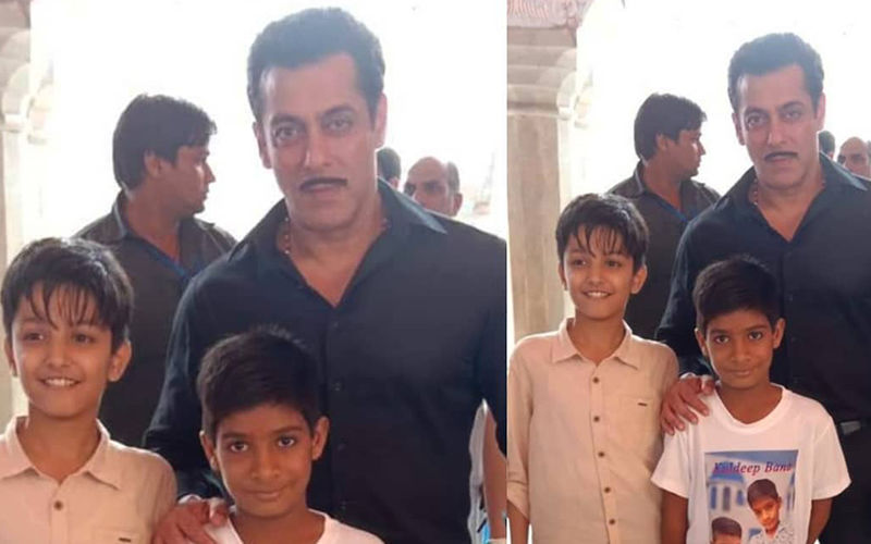 Dabangg 3 Diaries: Salman Khan In His Chulbul Pandey Avatar Poses With His Little Fans On The Sets