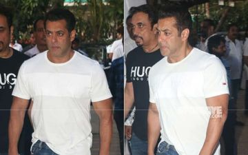 Salman Khan Is The Latest To Arrive At Veeru Devgan's Prayer Meet- SEE Pics