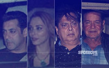 Salman Khan, Iulia Vantur, David Dhawan, Salim Khan Attend Tubelight Screening At YRF Studios