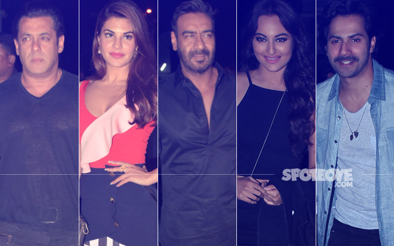Salman, Jacqueline, Ajay, Sonakshi, Varun At Race 3 Screening