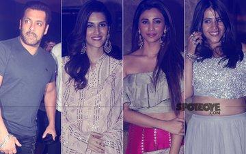 Salman Khan, Kriti Sanon, Daisy Shah & Ekta Kapoor Spotted In A Festive Mood