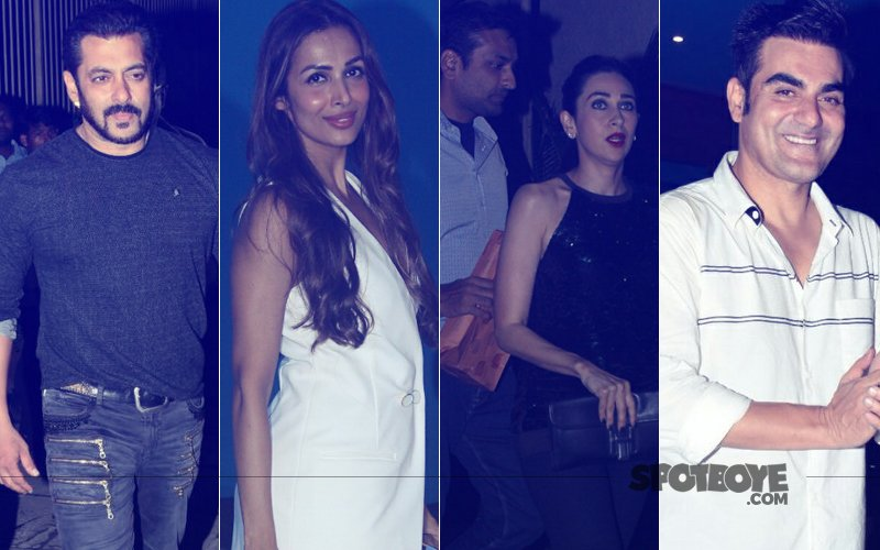 Salman Khan, Malaika Arora, Karisma Kapoor, Sandeep Toshniwal At Arbaaz Khan's 50th Birthday Bash