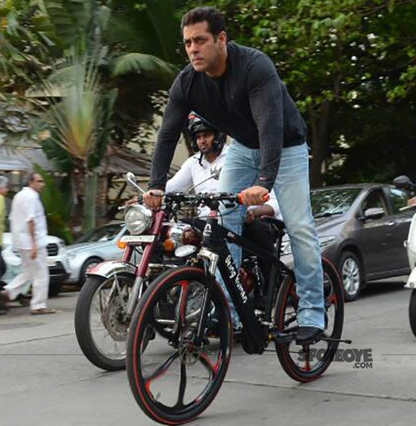 ccfcf9f0d6a Salman Khan Shows Off His New E-Cycle By Performing Stunts On The ...