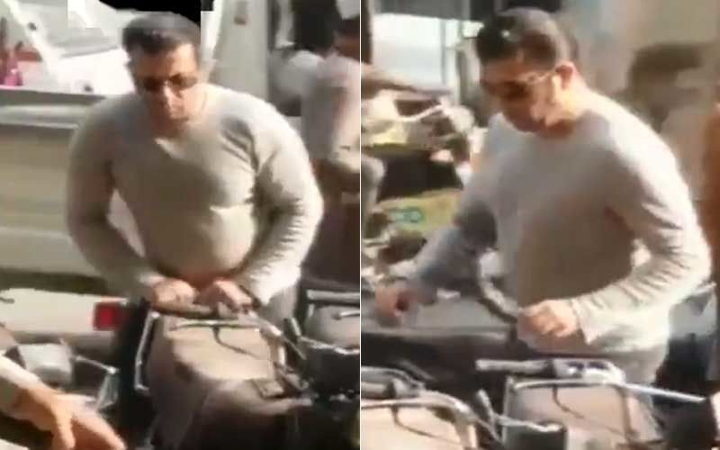 Wait! What? Salman Khan Spotted In Karachi, Moving Bikes At A Parking Lot