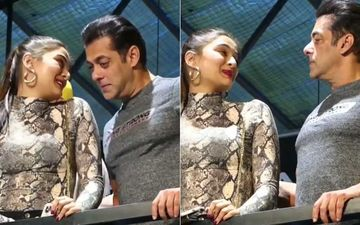Dabangg 3: Salman Khan Steadies Saiee Manjrekar's Nerves As She Looks Very Uncomfortable Amid Fan Frenzy - Watch Video