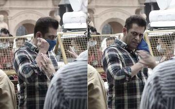 Radhe: Your Most Wanted Bhai BTS: Salman Khan, Jackie Shroff Wear Mask To Raise The Hygiene Standards As Shoot Restarts – WATCH