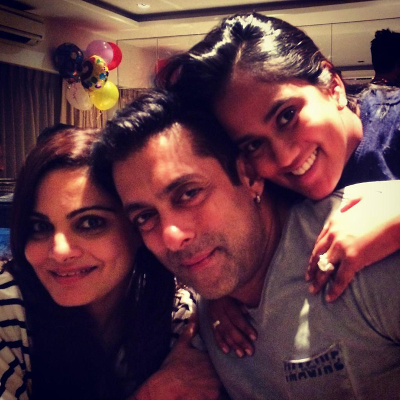 salman khan with sisters alvira and arpita khan