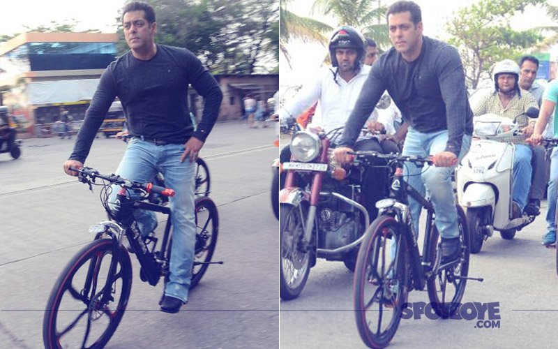 Salman Khan Shows Off His New E-Cycle By Performing Stunts On The Streets Of Mumbai