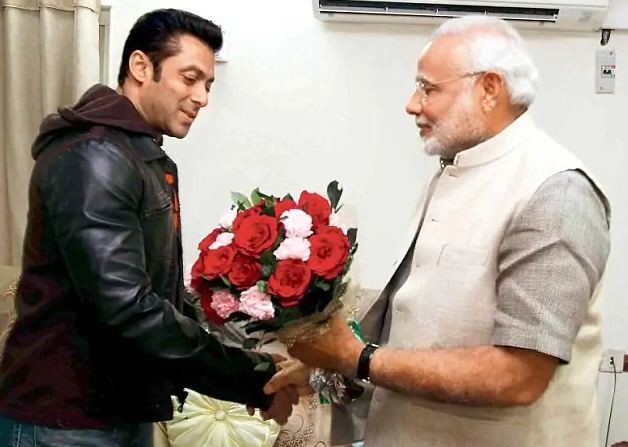 Salman Khan With PM Modi