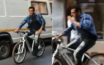 Just A Cool Video Of Salman Khan Cycling On The Streets Of Bandra This Morning; No Big Deal
