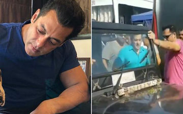 Salman Khan Thronged By Eager Fans As He Shoots For Dabangg 3 In Phaltan. Swag Se Swagat?