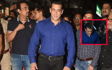 Salman Khan's Female Fan Breaks Security Cordon, Tugs At His Arm At Hum Aapke Hain Koun Screening; Actor Expresses His Annoyance