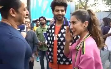 Sara Ali Khan Greets Salman Khan With An 'Adaab' On The Sets Of Bigg Boss 13; Netizens Find It 'Too Cute'-VIDEO