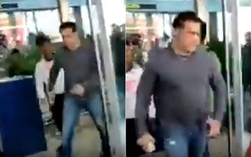 Salman Khan SNATCHES A Fan's Mobile Phone At Goa Airport- WATCH VIDEO