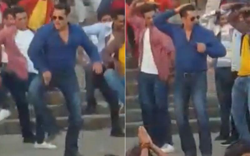 शूटिंग शुरू होते ही दबंग 3 का गाना हुआ LEAK, टाइटल ट्रैक पर डांस करते हुए सलमान खान का वीडियो हो रहा है वायरल