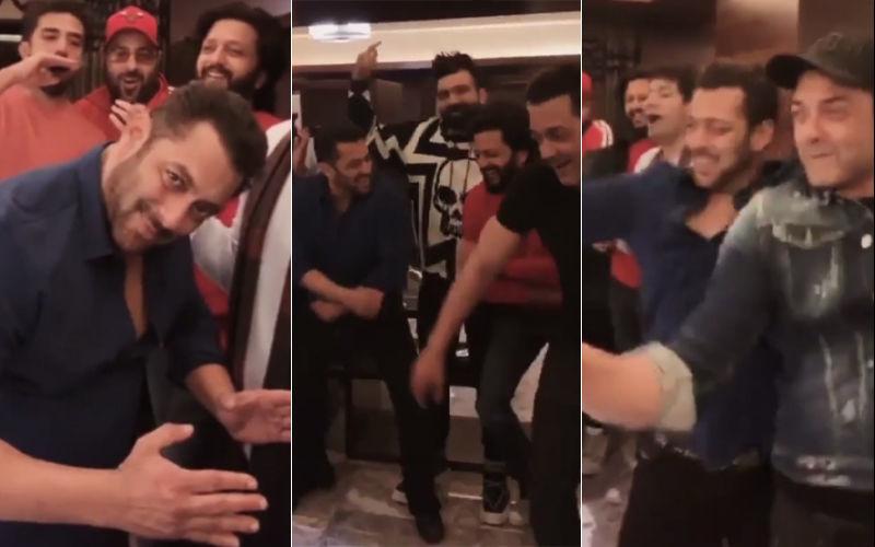 दिल खोलकर डांस करते दिखे सलमान खान, बॉबी देओल ने दिया साथ: देखिए वीडियों
