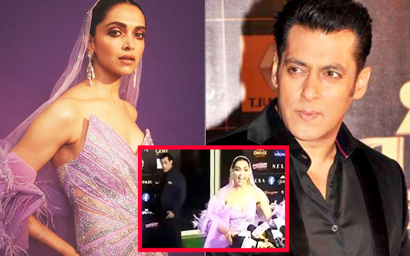 IIFA Awards 2019: That ROFL Moment When Salman Khan Looked Amused With The Sheer Space Deepika Padukone's Elaborate Gown Took Up