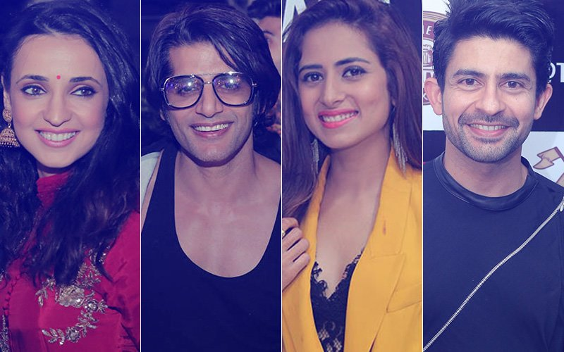 Sanaya Irani, Karanvir Bohra, Sargun Mehta & Hussain Kuwajerwala Step Out For A Pre-Diwali Bash
