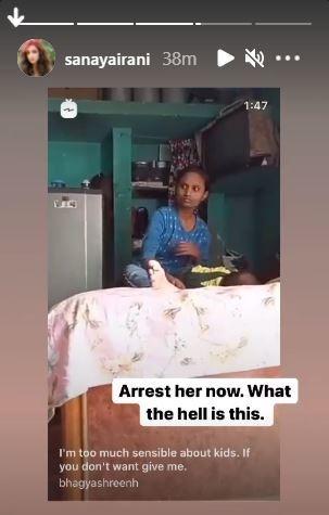 Sanaya Irani s Instagram stories