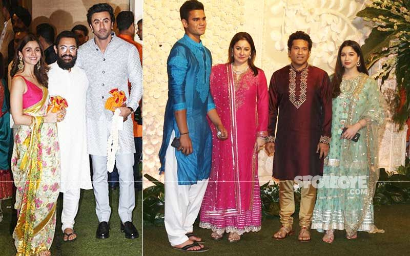 Aamir Khan And Sachin Tendulkar's Son Arjun Wore Bathroom Slippers To Ambani's Lavish Ganpati Celebrations - No Kidding