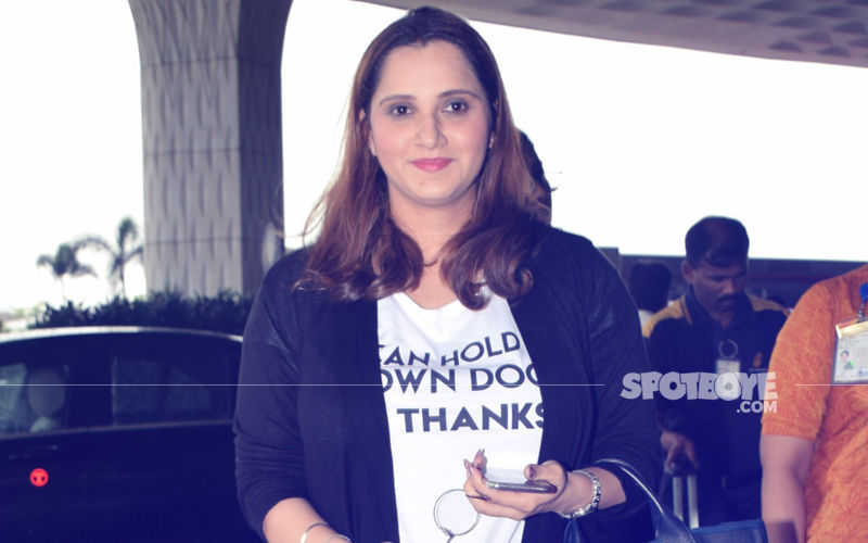 Airport Spotting: Mommy-To-Be Sania Mirza's Pregnant Glow Is Unmissable